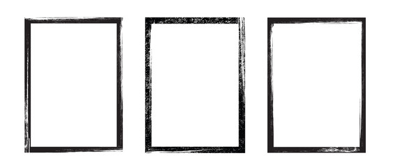 Grunge frame - stock vector.