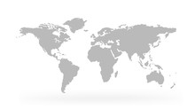 World Map Isolated On White Ba...