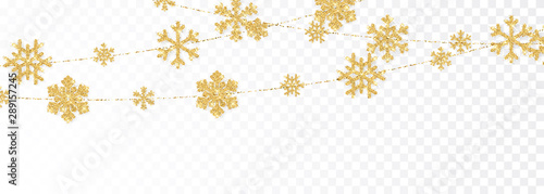 Carta da parati  Christmas or New Year golden decoration on transparent background