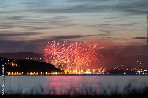 Fotografia Feu d'artifice sur le Lac d'Annecy