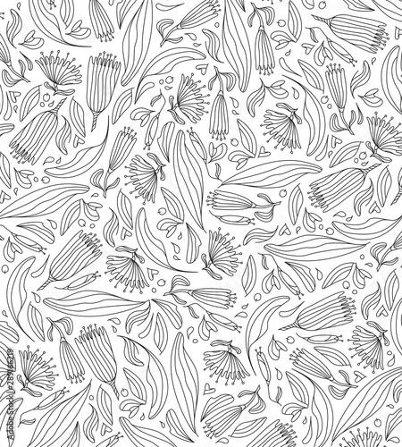 Fototapeta  Motif feuille pour arrière-plan, décoration, ornement, tapisserie, tissu, fleurs