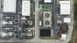 Top view of electric substation,electrical and production