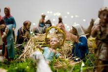 Christmas Nativity Scene, Old ...