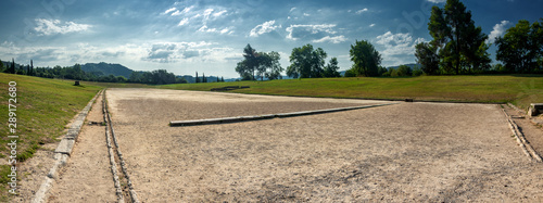 The ancient stadium of the Olympic Games of the antiquity Canvas Print