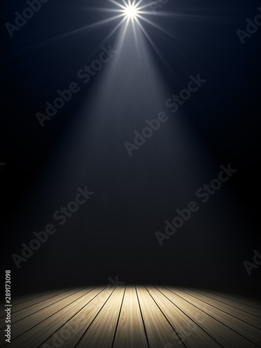Fotomural  moody stage light background
