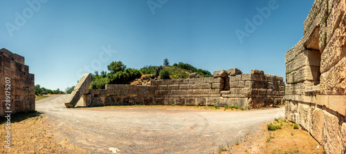 The Arcadian Gate ruins in Ancient Messini, Greece Fototapeta