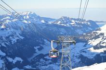 Mount Or Mt Titlis In Swiss Switzerland Near Engelberg