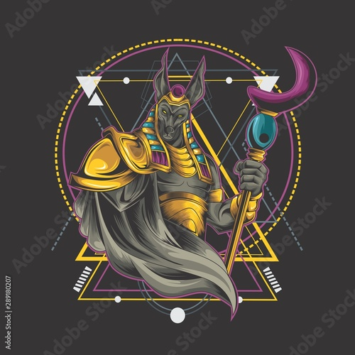 Obraz na plátně anubis illustration design