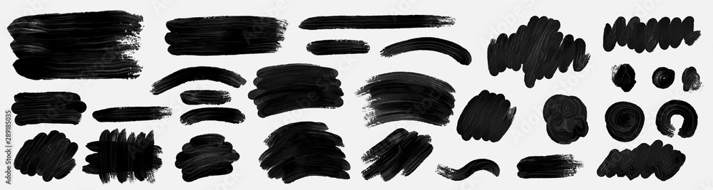 Fototapeta Brush paint. Brush grunge paint vector set.Vector paintbrush set. Grunge design elements.