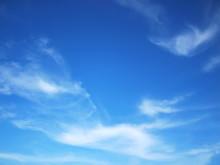 Blue Sky Has A Beautiful White...