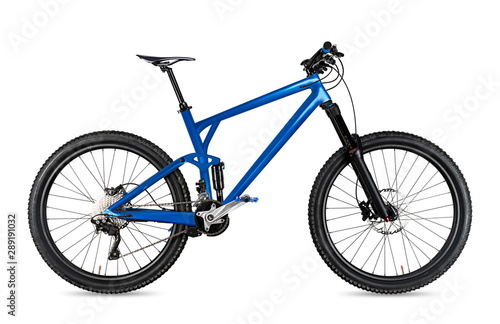blue enduro carbon all mountain bike with full supsension and 650b wheels Wallpaper Mural