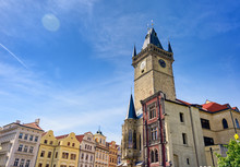 The Old Town Hall In Prague, The Capital Of The Czech Republic, Is Located In Old Town Square.