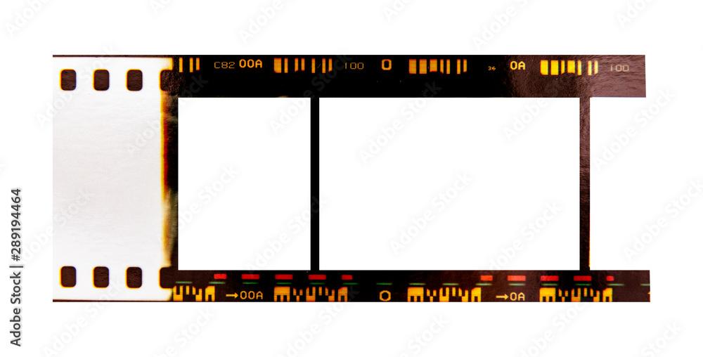 Fototapety, obrazy: (35 mm.) film frame.With white space.film camera.