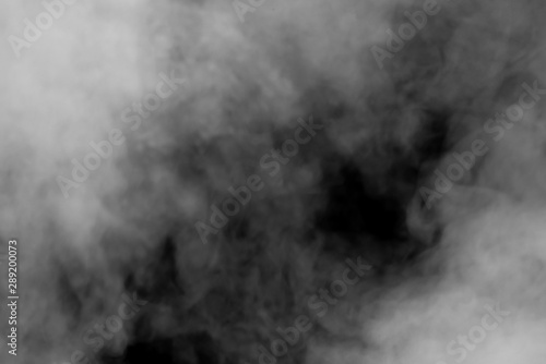 Poster Fumee abstract background smoke curves and wave on black background