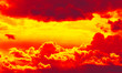 Leinwandbild Motiv Cloudy sky awaiting thunderstorm at sunset. panorama of clouds in a stormy sky