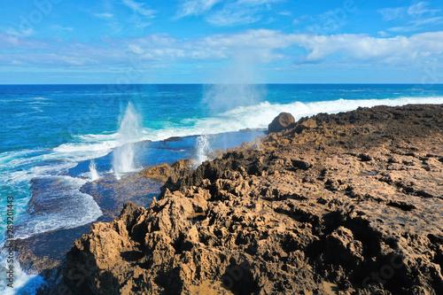 Fotografie, Obraz Quobba Blowholes in Western Australia