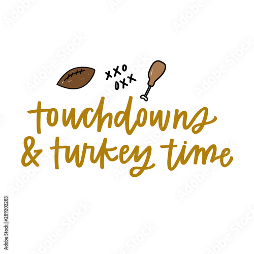 Stampa su Tela  Touchdowns and Turkey Time