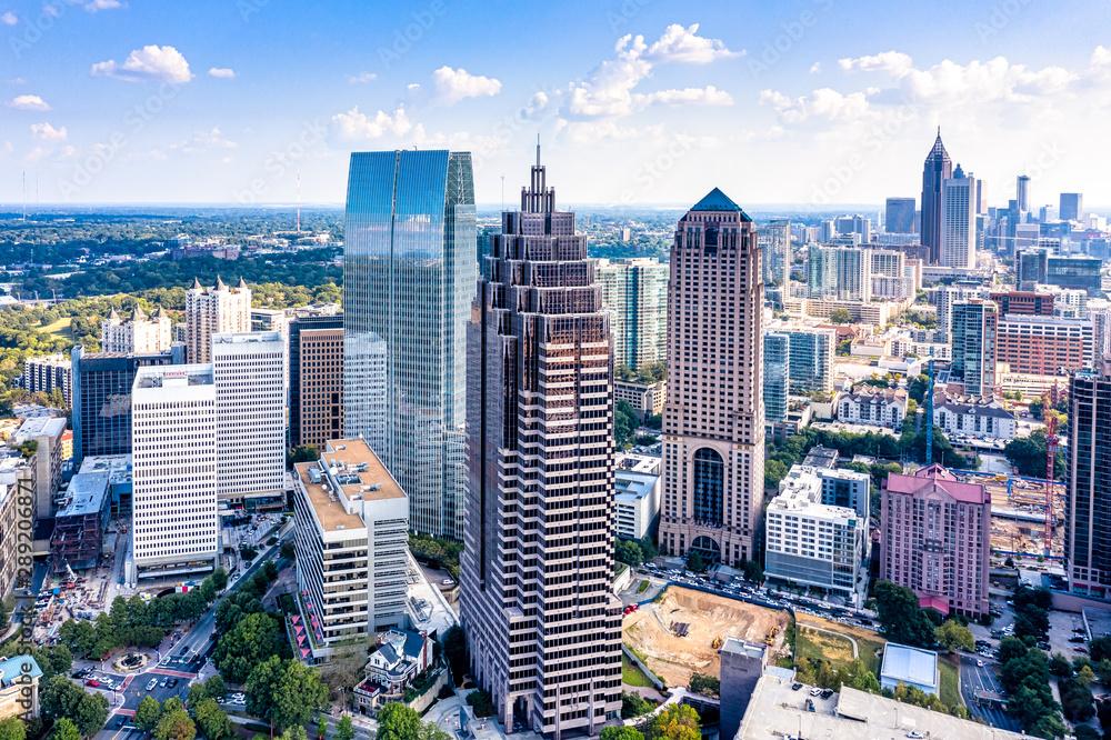 Fototapeta Aerial view downtown Atlanta skyline