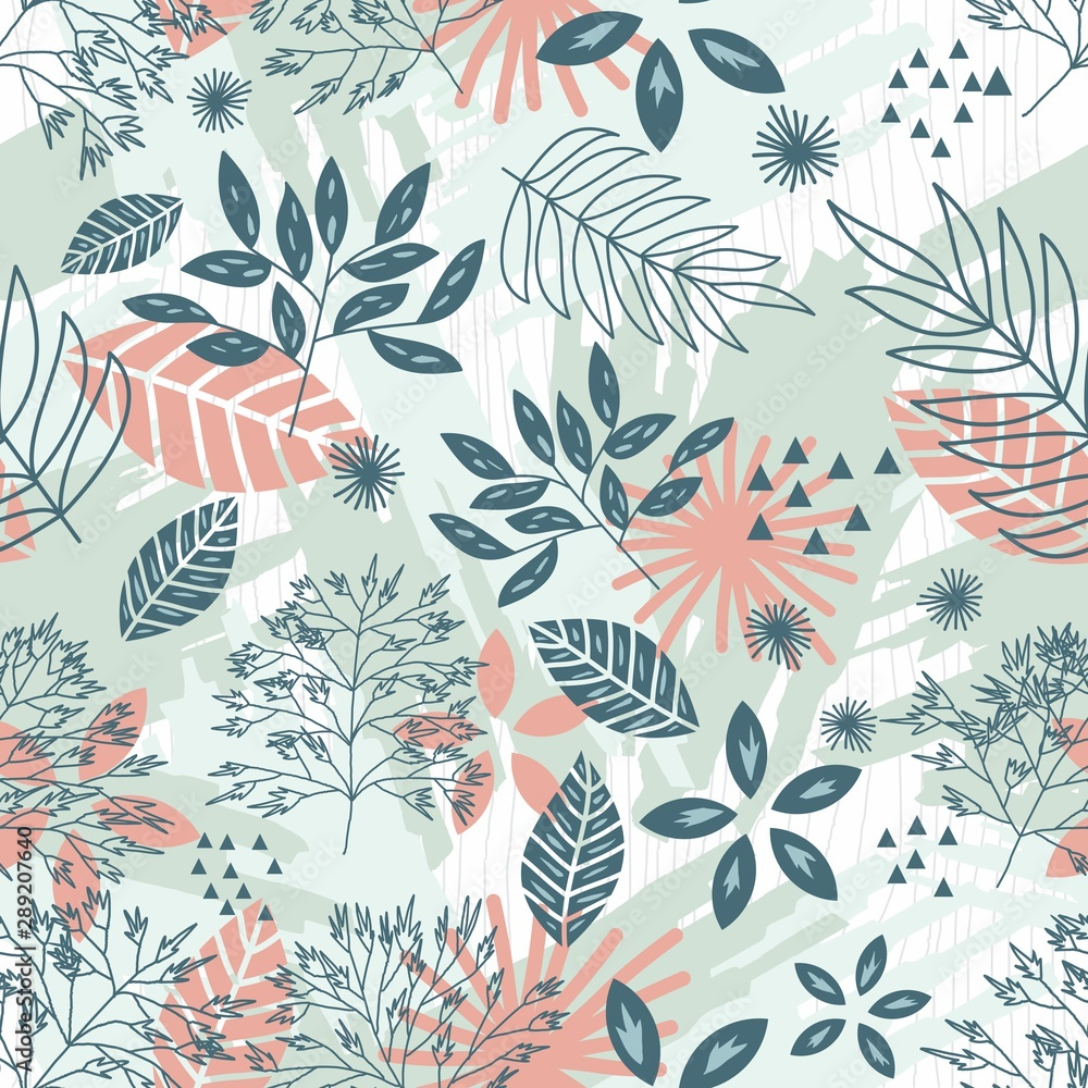 Fototapety, obrazy: Nature's favorite seamless pattern 2