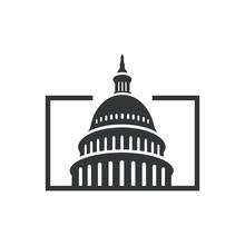 Government Icon Premium Creative Capitol Building Logo Vector Design Iconic Landmark Illustrations