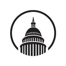Premium Creative Landmark Capitol Building Logo Vector Design Iconic Illustrations