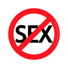 Prohibition Of Sex Sign Vector...