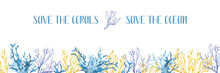 Watercolor Banner With Glowing...