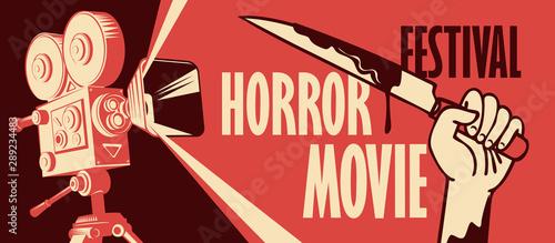 Photo  Vector banner for horror movie festival