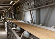 Conveyor Belt. Grain Storage Eemsmond Groningen Netherlands. Harbor,