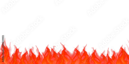 Photo Illustration of flame.  White background. 炎のイラスト  白背景