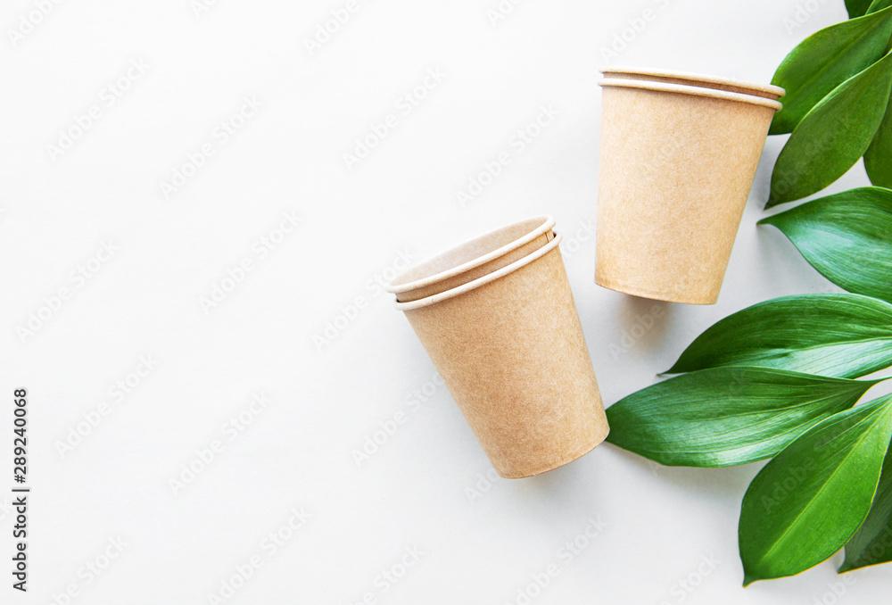 Fototapety, obrazy: Zero waste concept, paper tableware