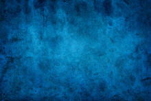 Rustic Blue Wall Background Wi...