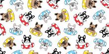 Dog Seamless Pattern French Bu...
