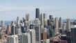 Flyover Chicago Cityscape - Summer