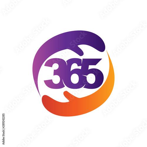 Fototapeta  hand care 365 infinity logo icon design illustration vector