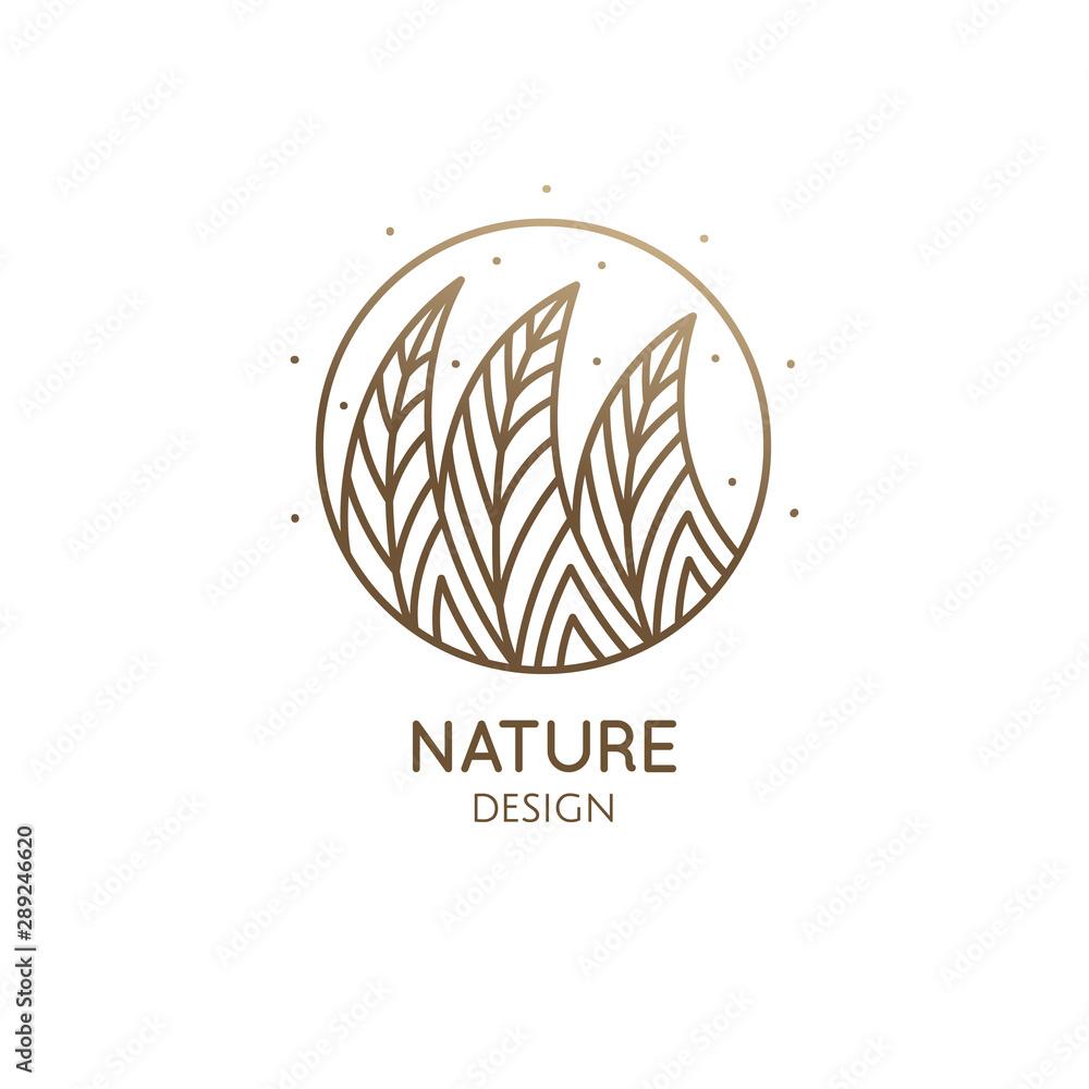 Fototapety, obrazy: Round pattern logo of forest