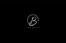 B Letter Calligraphic Minimal Monogram Emblem Style Vector Logo