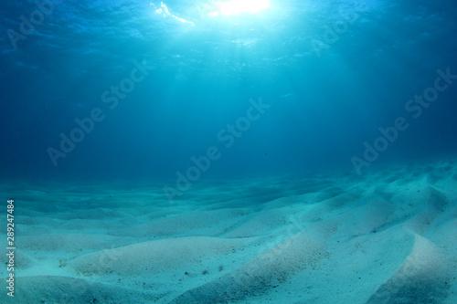 Fotografia Abstract underwater blue background