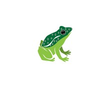 Frog Cartoon Icon Silhouette L...