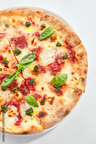 Fotografia Margherita pizza closeup