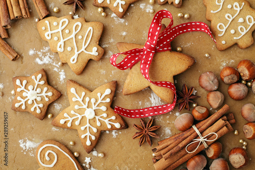 christmas cookies, baking spices Wallpaper Mural
