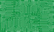 Hi-tech Background, Circuit Board, Hardware Engineering Concept.