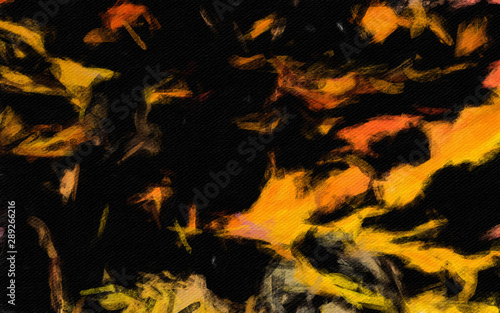 Abstract art background for interior wall prints, decorate printable products and create trendy graphic or web works. Large brush strokes drawing on canvas. Bright colors and unusual form design