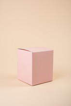 Empty Space Pink Box Mock-up, ...