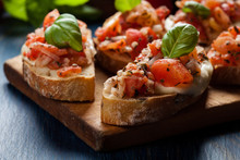 Italian Bruschetta With Roaste...