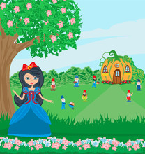 Fairy Tale Snow White And 7 Dw...