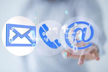 FototapetaMail Communication Connection message to mailing