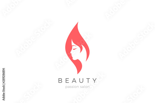 Woman Girl Silhouette Abstract Logo Design For Beauty Fashion Salon Vector Template Buy This Stock Vector And Explore Similar Vectors At Adobe Stock Adobe Stock
