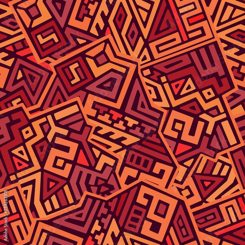Photo Creative ethnic style vector seamless pattern