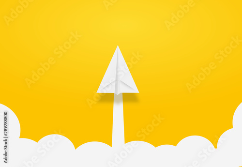 Photo  Paper Rocket or airplane launch